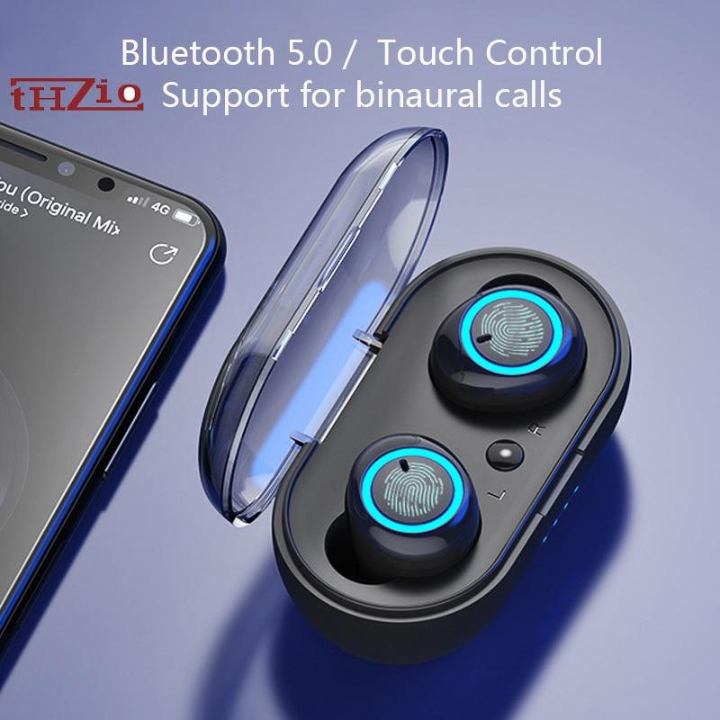 Auriculares Bluetooth de alta fidelidad THZIO TWS, auriculares inalámbricos de bajo, manos libres táctiles, Auriculares deportivos de oído para juegos, auriculares con micrófono para xiomi