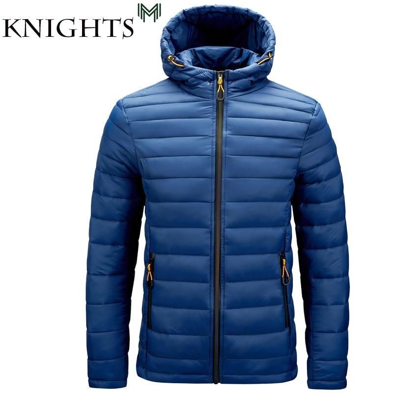 Уличные рыцари, зимняя теплая водонепроницаемая куртка для мужчин, новинка 2021, Осенние толстые парки с капюшоном, мужская мода, повседневна...