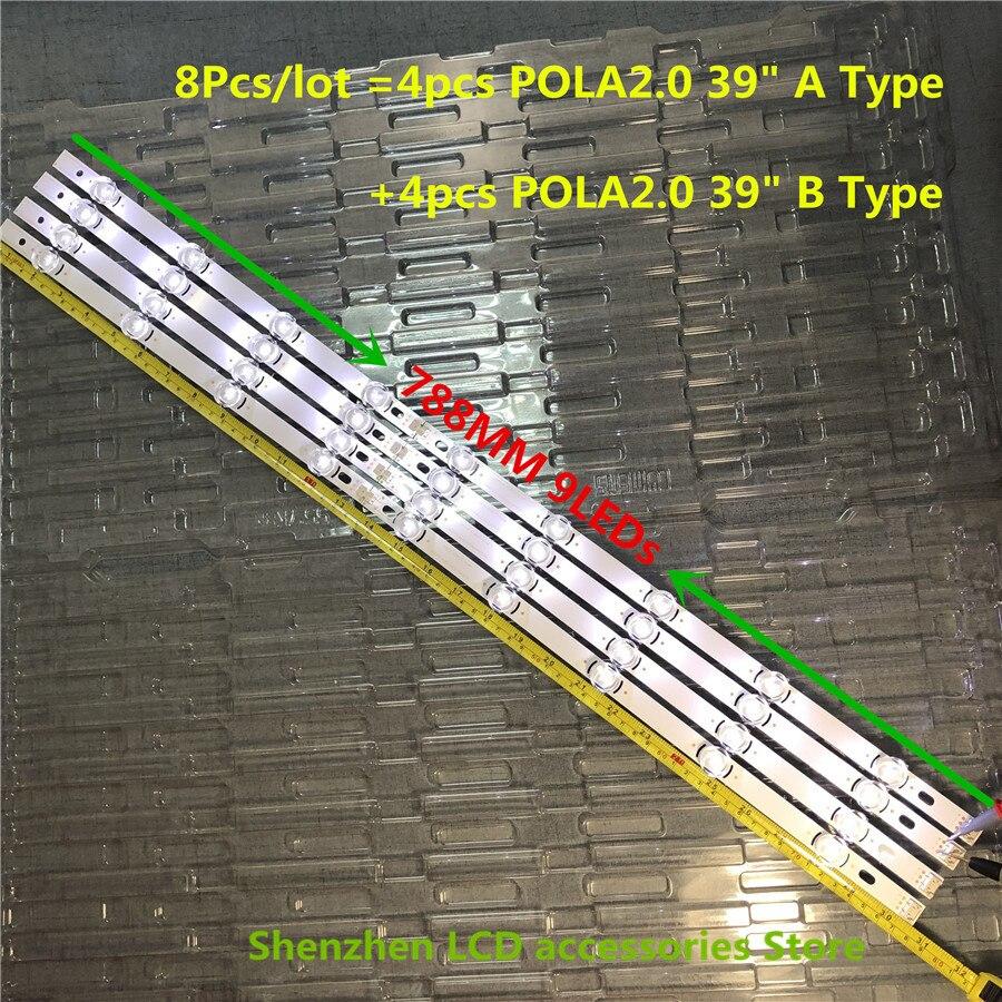 16 teile/los 100% NEUE Volle Hintergrundbeleuchtung Ar ray LED Streifen Bars für LG 39LN540V 39LN570V 39LA620V HC390DUN POLA2.0 39 EIN B