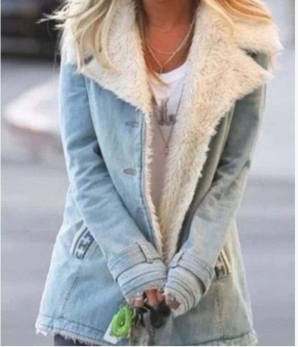 2021 موضة جديدة خمر الشتاء جان سترة للنساء الخريف جيب Vintage جان سترة بلون معطف غير رسمي الاتجاه الشارع نمط