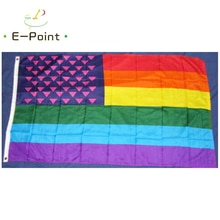 Pink Triangle USA Rainbow Flag 2ft*3ft (60*90cm) 3ft*5ft (90*150cm) Size Christmas Decorations for H