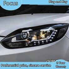 자동차 스타일링 초점을위한 LED 헤드 라이트 2012 2013 2014 초점을위한 이중 초점 렌즈 H7 크세논 헤드 램프 LED 조명 DRL 자동차 스타일링