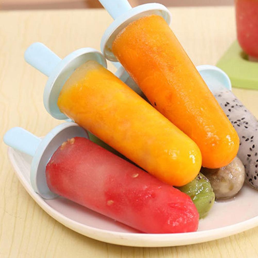 6 unids/set Circular con tapa molde de helado accesorios para cubo de crema de grado Diy alimentos Kichen moldes caja postre helado W0Q1