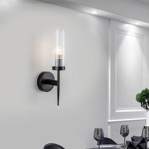 Nordic wall lamp modern minimalist creative crystal light luxury living room bedroom stairs aisle bedside lamp
