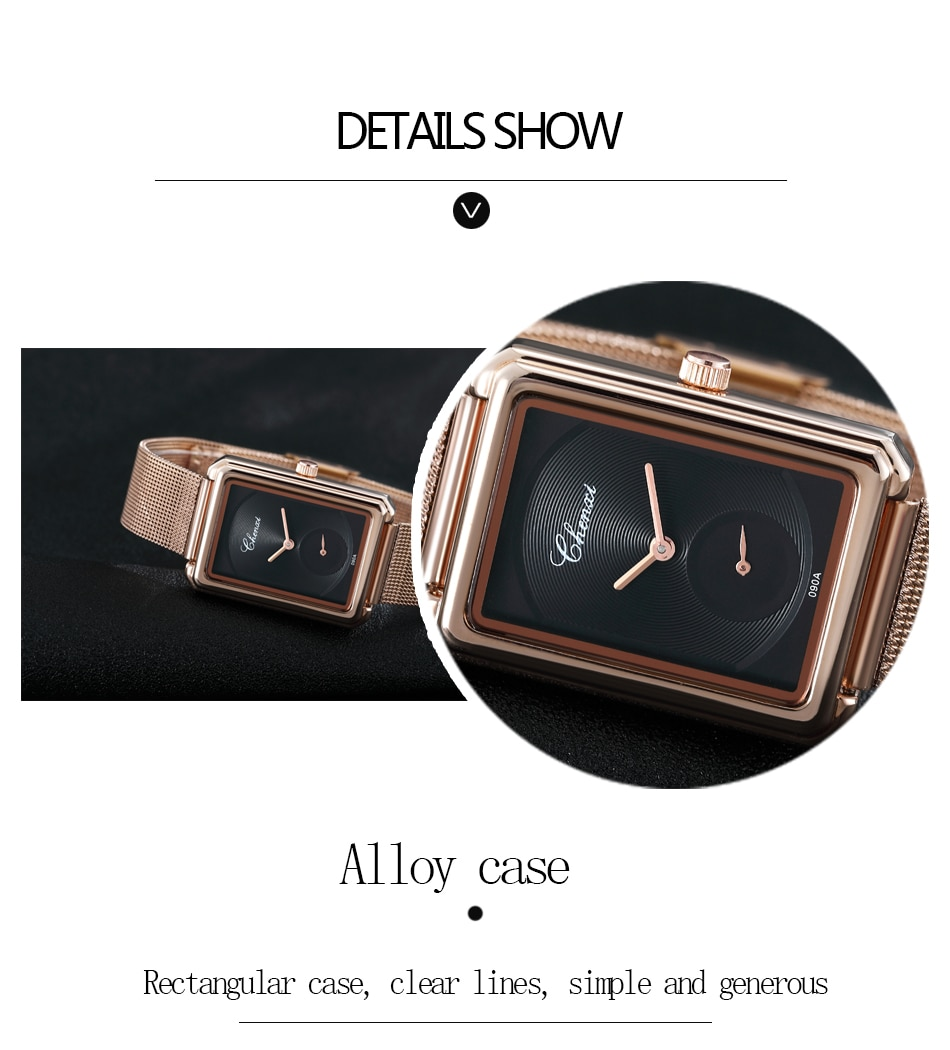 CHENXI 2020 New Style Quartz Watch For Women Fashion Luxury Business Square Dial Wonan Watch Ladies Dress Gift WristWatch enlarge