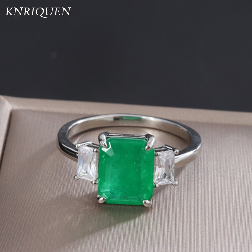 2021 New Arrival 100% 925 Sterling Silver Emerald Created Moissanite Gemstone Women's Diamond Ring Anniversary Gift  Jewelry