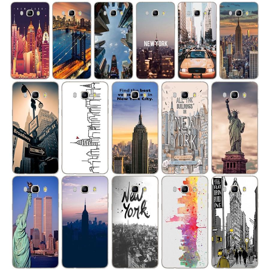175DD New York City Soft Silicone  Case Cover for Samsung Galaxy a3 a5 2017 A6 A8 2018 j3 j5 j7 2016 2017