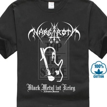Nargaroth Band Black Metal Ist Krieg 2001 Album Cover T Shirt Cool Slim Fit Letter Animeed