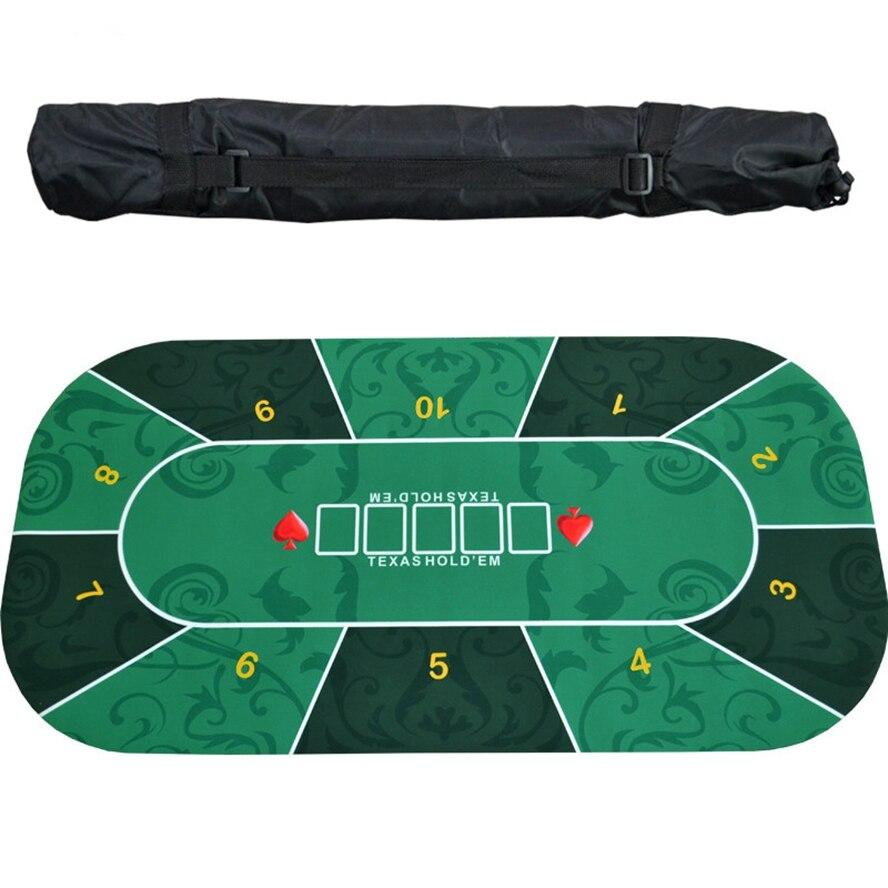 1,2*0,6 m Texas Holdem Poker goma mantel de mesa Impresión Digital Casino Poker estrellas tablero estera Poker fichas Escritorio