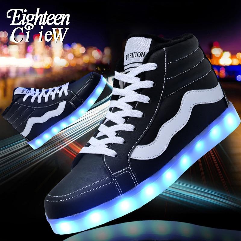 حجم 35-44 متوهجة أحذية رياضية USB شحن للأطفال أحذية رجالي عالية الجودة مضيئة أحذية رياضية الذكور تضيء أحذية احذية الجري