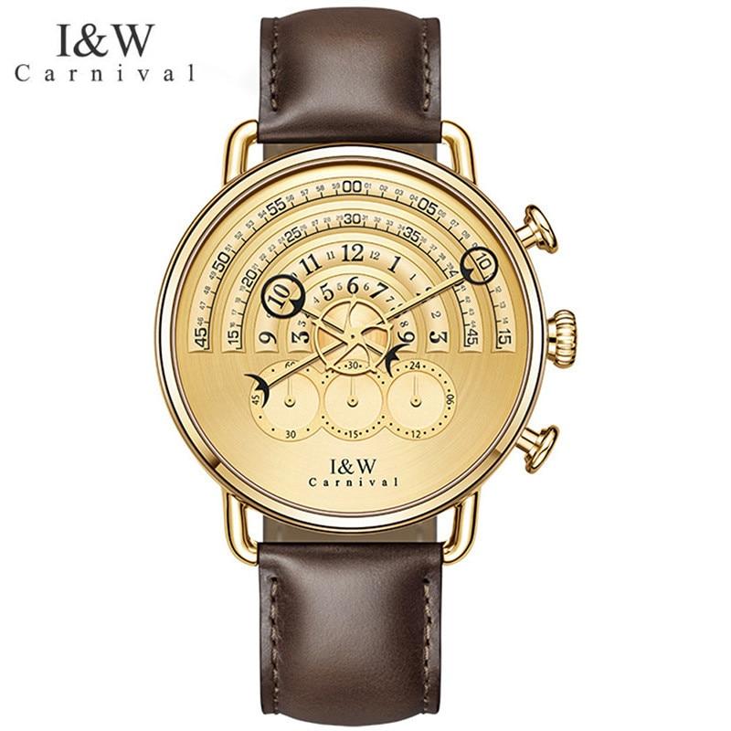CARNIVAL Brand Fashion Watch Men Women Luxury Waterproof Sport Quartz Wristwatch Gold Silver Chronograph Clock Relogio Masculino