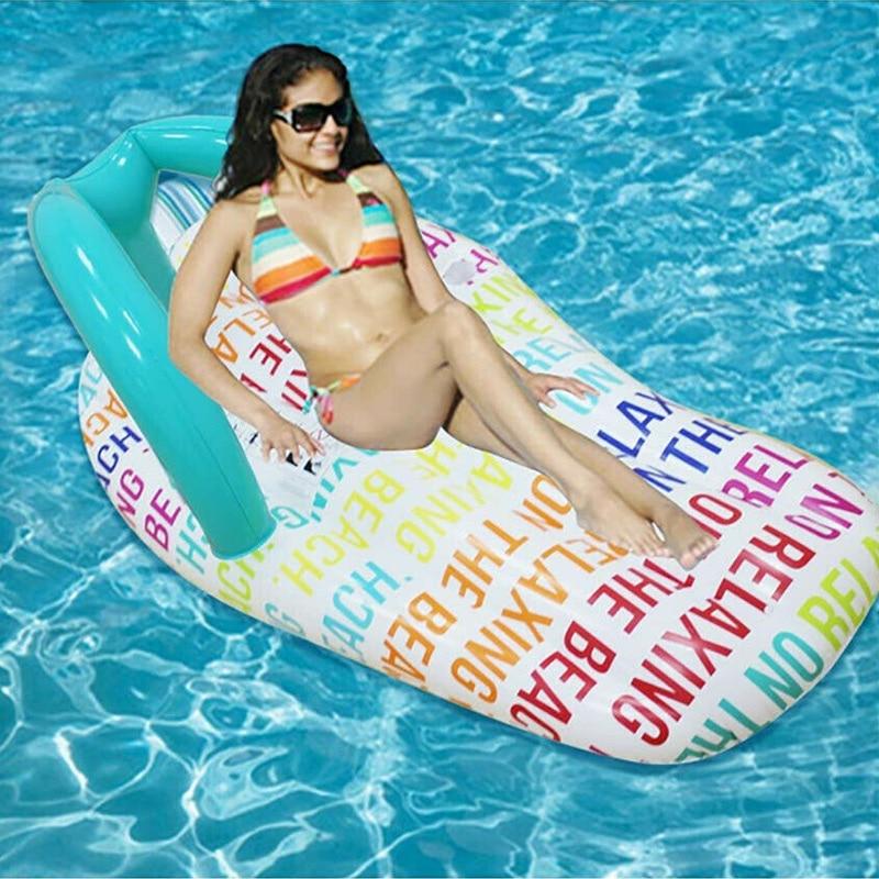 Nueva hamaca inflable de agua, pantuflas de cama flotantes, silla de salón para piscina, Playa FK88