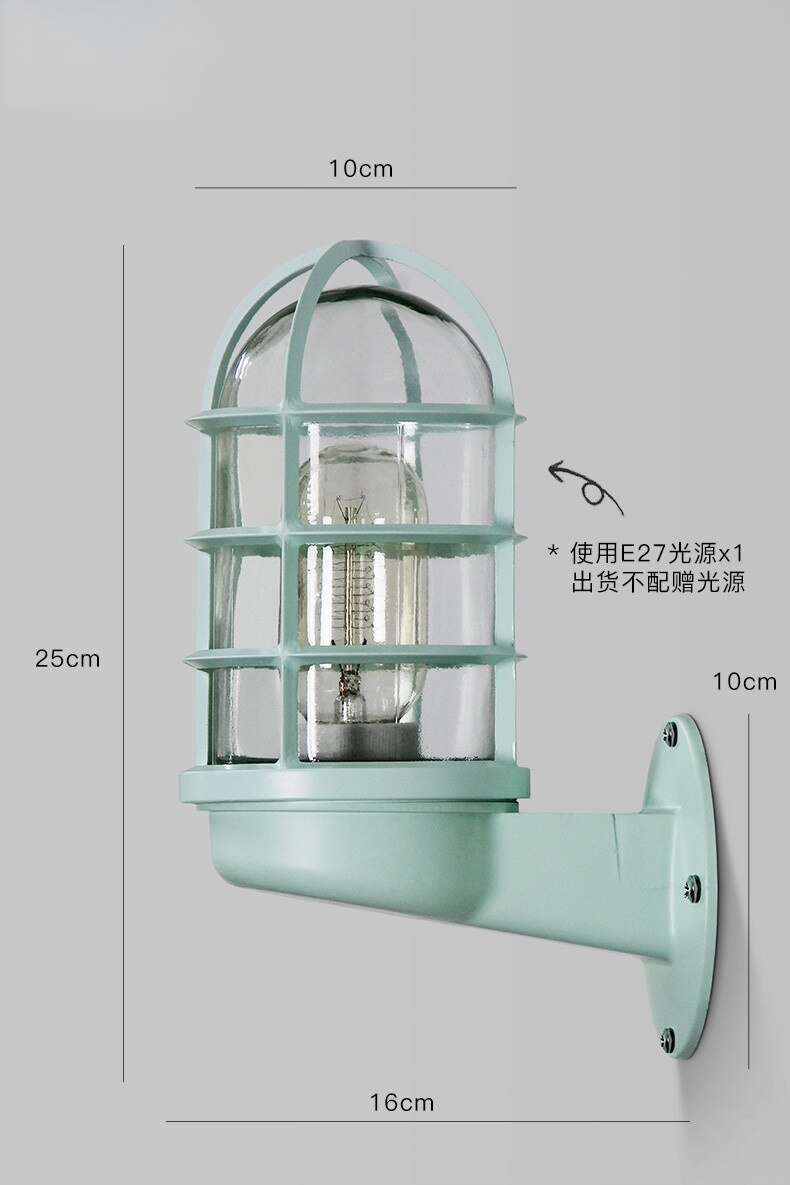 Wandlamp Nordic LED Wall Light Outdoor Lighting Glass Shade Outdoor Wall Lamp Courtyard Porch Lights Buiten Verlichting enlarge