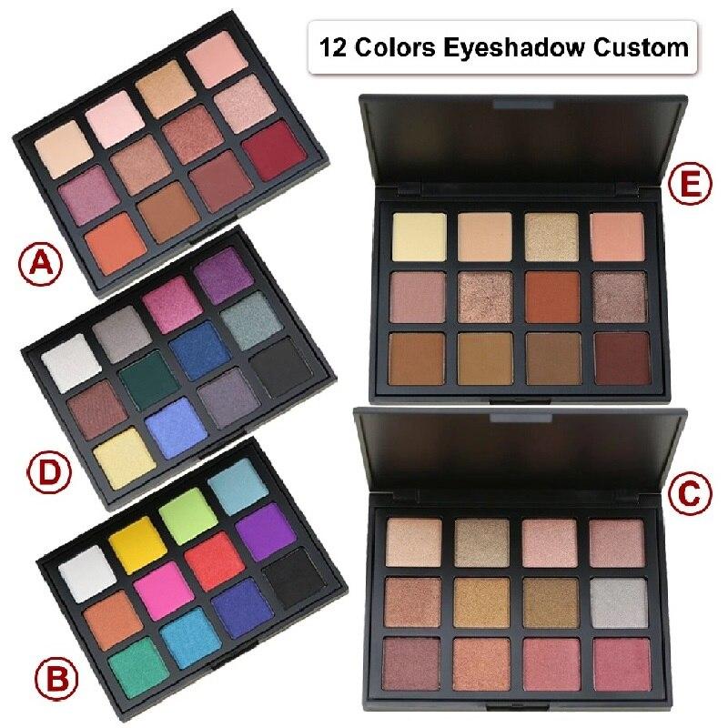 Maquillaje mate/brillo paleta de sombra de ojos desnuda a prueba de lana pigmentado de larga duración brillo tierra polvo cosméticos Cusom Etiqueta Privada