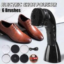 Polisseuse électrique Portable automatique   Machine à polir les chaussures, brosse de nettoyage, outils de soins du cuir