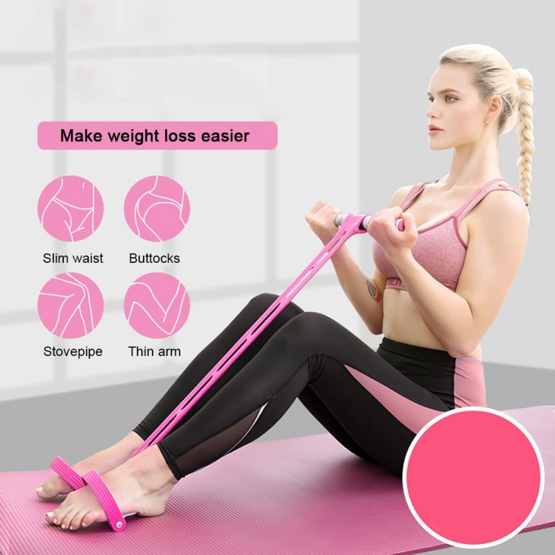 New Pedal Resistance Band Foot Pedal Elastic Pull Rope For Home Gym Yoga Workout Pedal Fitness Sit-up Exercise Equipment