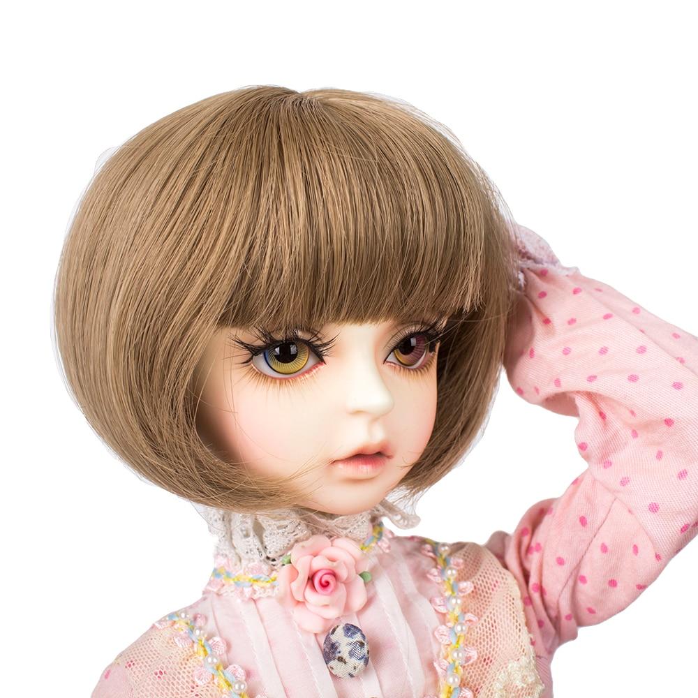 Muziwig nueva fibra de alta temperatura 1/3 peluca BJD pelo marrón para BJD/SD accesorios de muñeca thngs para muñeca