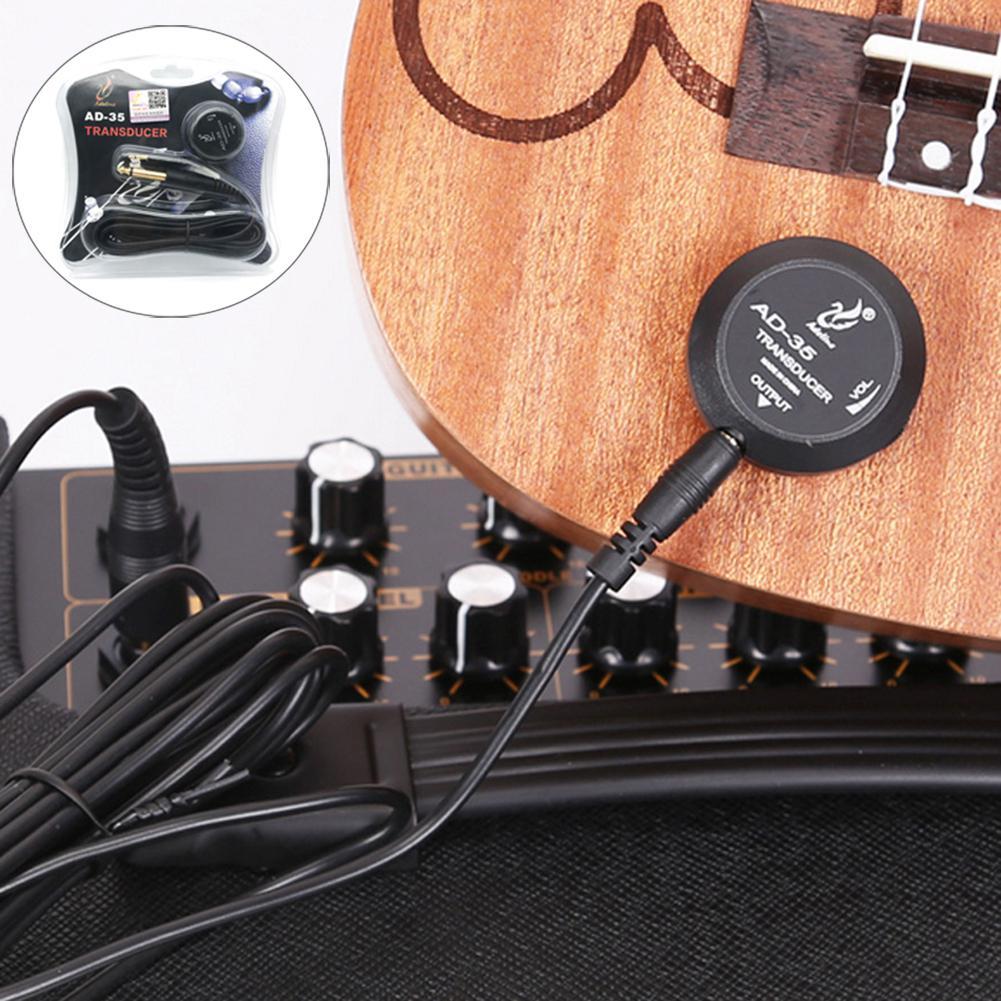Ninguna guitarra acústica Pickup violín profesional caja tambor ukelele parche Pickup instrumento Musical sonido efecto partes rendimiento