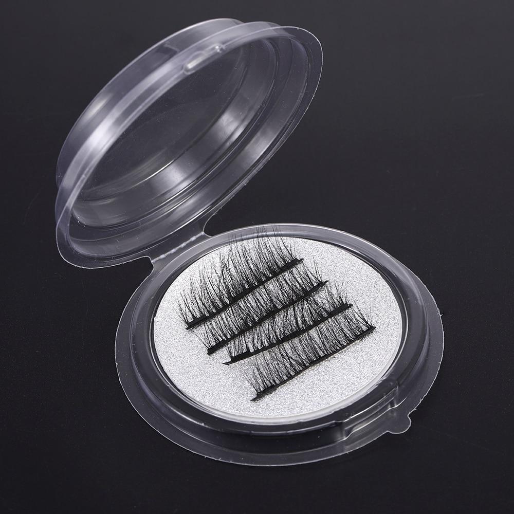 4 Uds 6D extensión de pestañas postizas magnéticas efecto reutilizable Triple cobertura completa pestañas gruesas Maquiagem Faux Cils No daña
