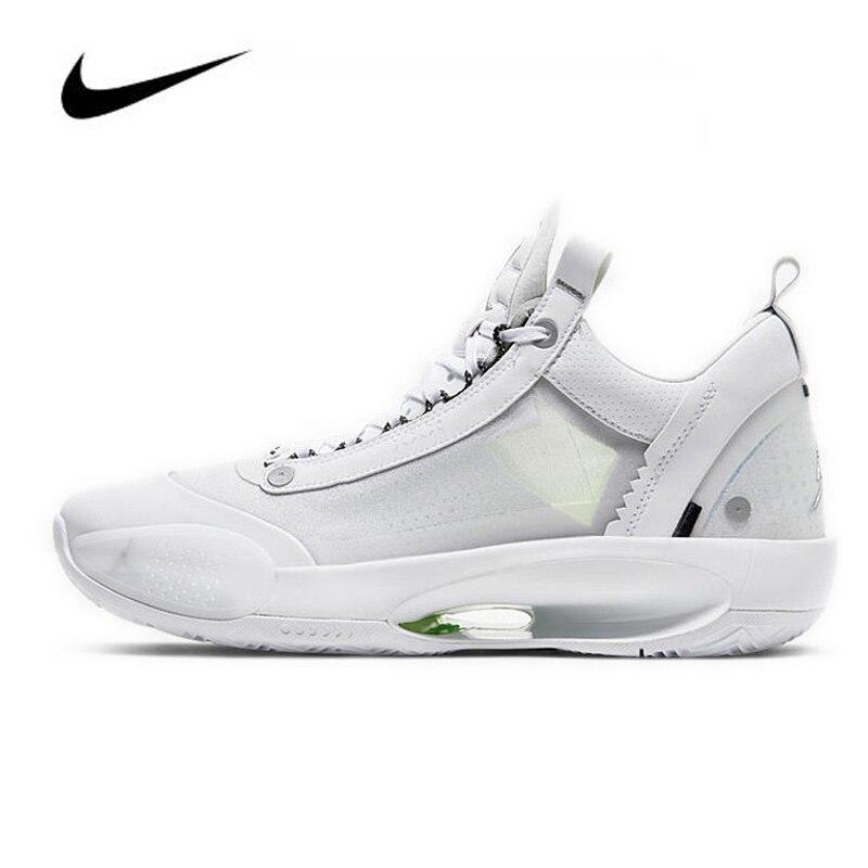 Sapatos masculinos nike air jordan 34, calçados de basquete original, baixo pf, dinheiro puro, CU3475-100, high-top, sapatos de jordan, basquete tênis para mulheres