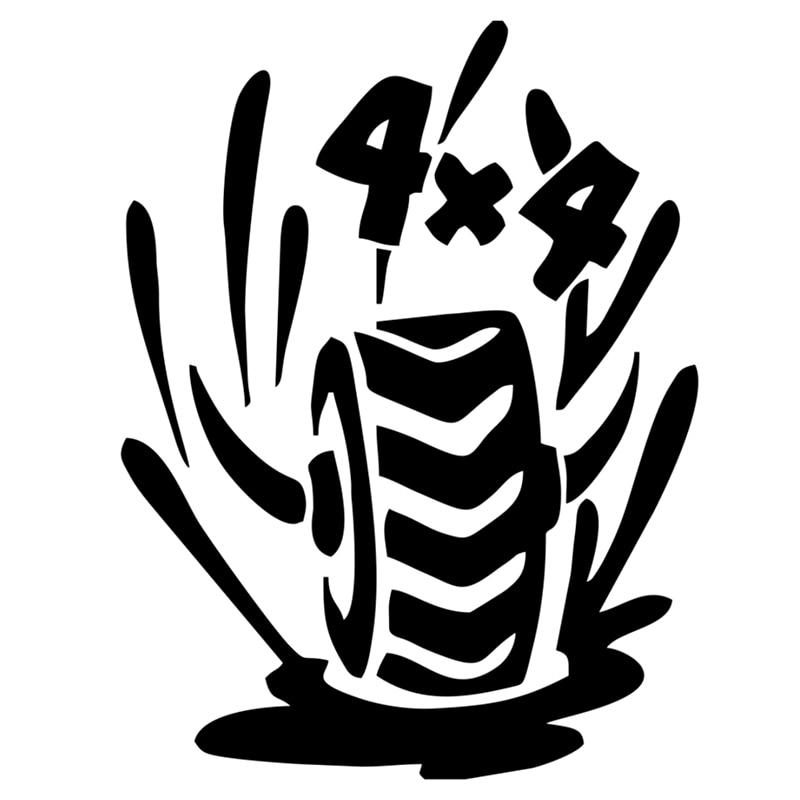 Фото - CK2739#15*20cm 4x4 tires funny car sticker vinyl decal silver/black car auto stickers for car bumper window car decorations ck2892 30 20cm 22 15cm number 83 funny car sticker vinyl decal silver black car auto stickers for car bumper window car decor