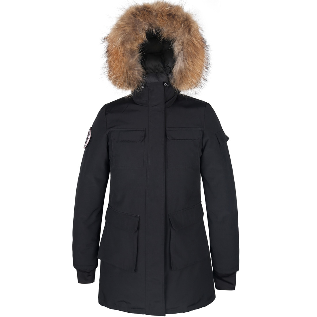 Women's Winter New Down Parkas Lesmart Fur Collar Hooded Long Down Coat Thick Female Fashion Outerwear Pocket Puffer Jackets