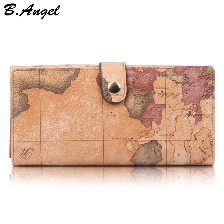2016 Stars war map message high quality world map Wallet Multifunctional long Design Wallet Zipper Coin Purse Card Holder in PVC