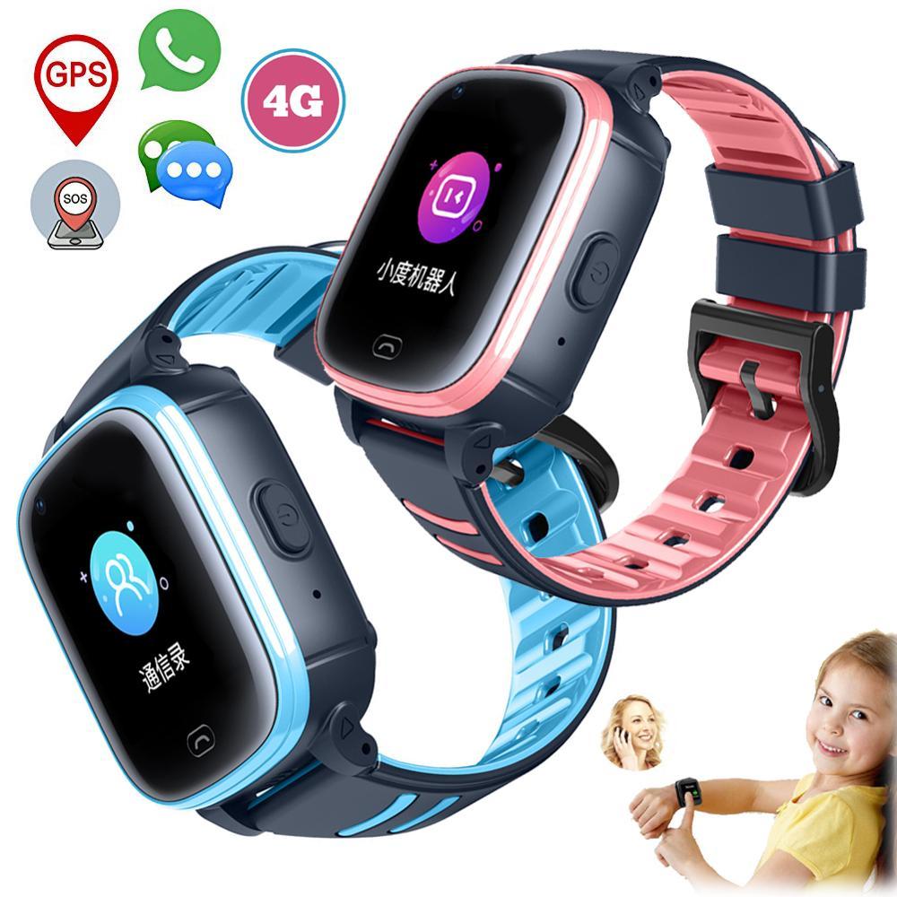 4G desbloqueado niños reloj inteligente bebé banda portátil pantalla táctil HD SOS voz Chat para niño niña bebé niños regalos