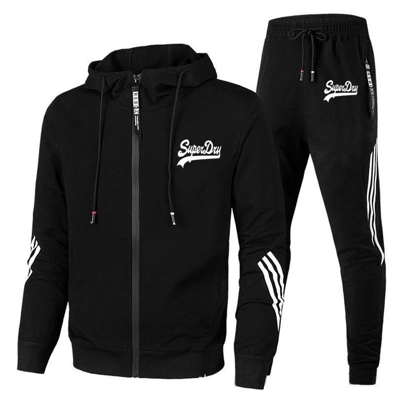 Tracksuit Men Set Set 2 Pieces Man Sportswear Zipper Hoodie+Pants Sport Suits Casual Sweatshirt+Sweatpants New Print Clothing