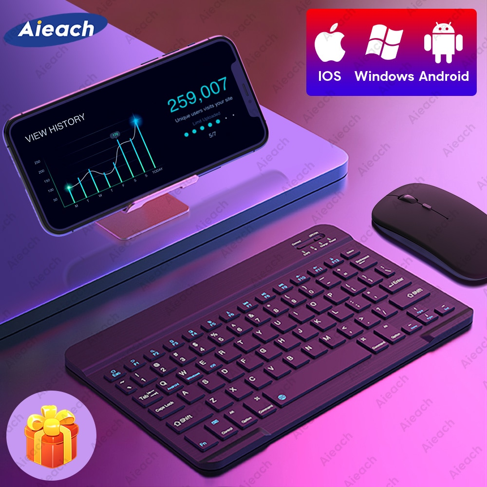 Keyboard and Mouse For Phone Smartphone iOS Android Windows Wireless Bluetooth Keyboard For Tablet i