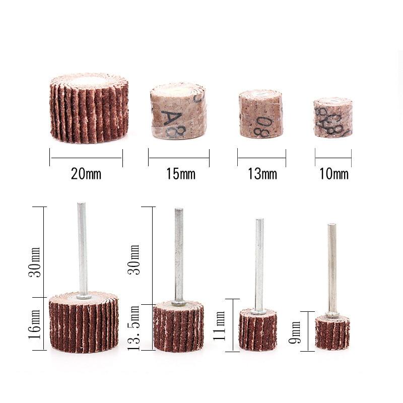 10ks 10-20 mm Příslušenství brusného papíru Dremel, lešticí - Brusné nástroje - Fotografie 6