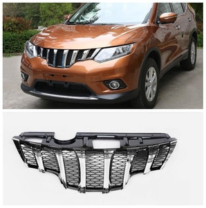 High quality ABS Mesh Grille Trim Racing Grills Fits For Nissan X-Trail XTrail Rogue 2014 2015 2016