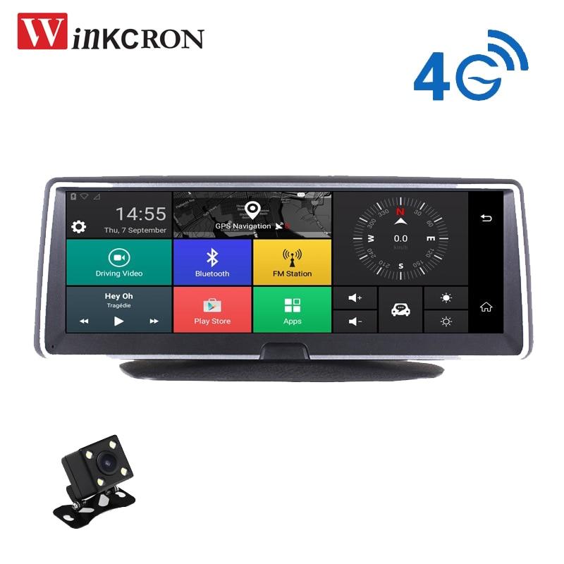 4G 8,0 pulgadas IPS pantalla coche Dash Cam GPS Navigator ADAS Android 5,0 coche Video grabadora Full HD 1080P cámara de visión trasera de doble lente