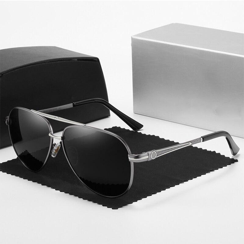 Роскошные брендовые солнцезащитные очки Mercede, Мужские поляризационные зеркальные очки для вождения с покрытием UV400, очки пилота, винтажные ...