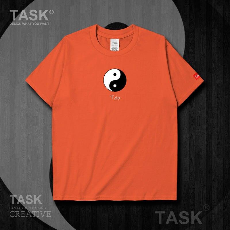 Camiseta de manga corta taoísmo cultura Tai Chi Yin Yang figura de cotilleo traje de Tai Chi Camisa de media manga moda 03