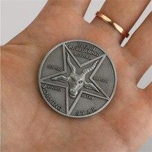 Cosplay de Anime Lucifer, estrella de la noche satánica, insignia Pentecostal, moneda, especial, accesorios para Cosplay, accesorios para monedas