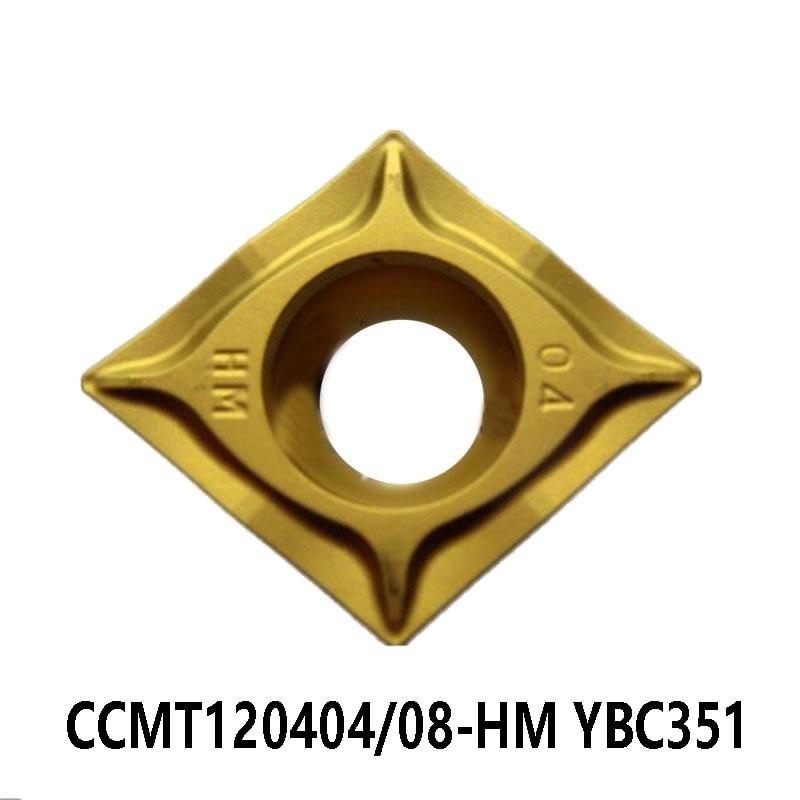Inserções de Carboneto Cnc para Aço Originais Ccmt 120404 120408 Torno Cortador Ferramentas Torneamento Ccmt1204 Ccmt120404-hm Ccmt120408-hm Ybc351
