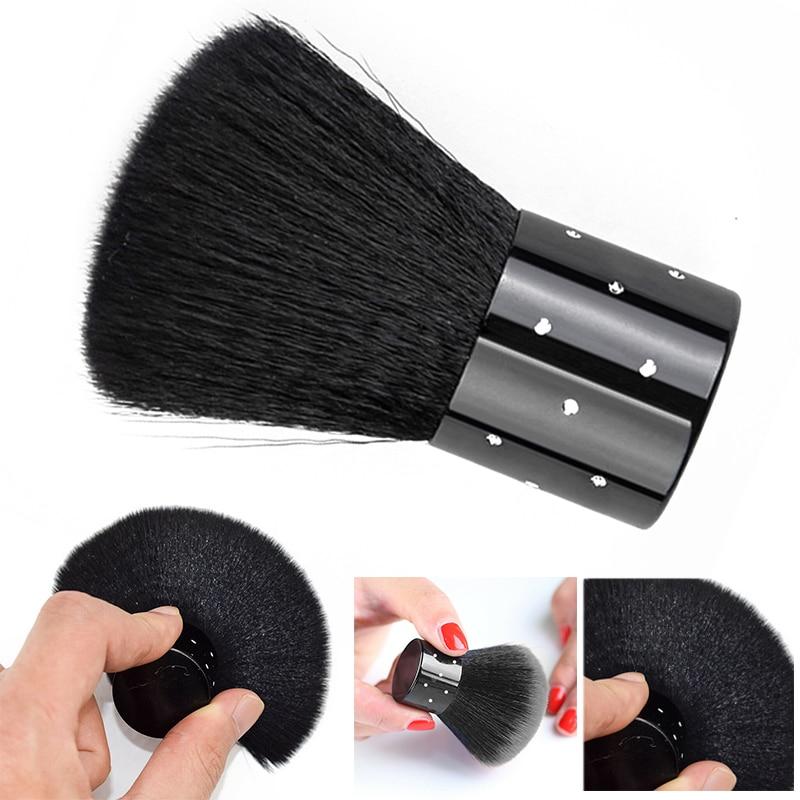 1pc profissional unha arte poeira limpeza escova macia removedor de pó limpeza manicure acrílico diy ferramentas da arte do prego preto