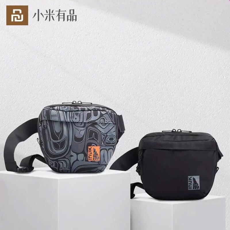 Youpin-حقيبة الخصر 2 لتر PU ، حقيبة قماش مقاومة للماء ، حقيبة صدر ، حقيبة كتف عالية الجودة ، للجنسين ، 2021