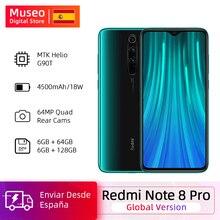 Version mondiale Xiaomi Redmi Note 8 Pro 64 go/128 go ROM 64MP Quad caméras MTK Helio G90T Smartphone 4500mAh 18W QC 3.0 UFS 2.1 Code REFRESH7 €50-€7  REFRESH10 €70-€10