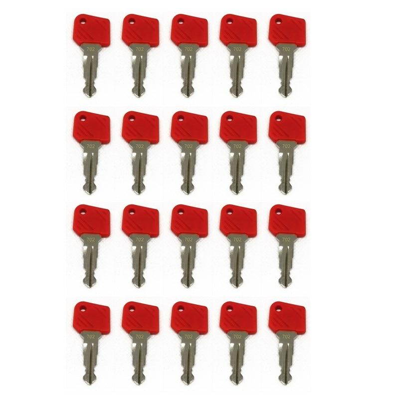 20pc Key For Jungheinrich 702 Red Electric Stapler Ignition Key 702 Mic Komatsu