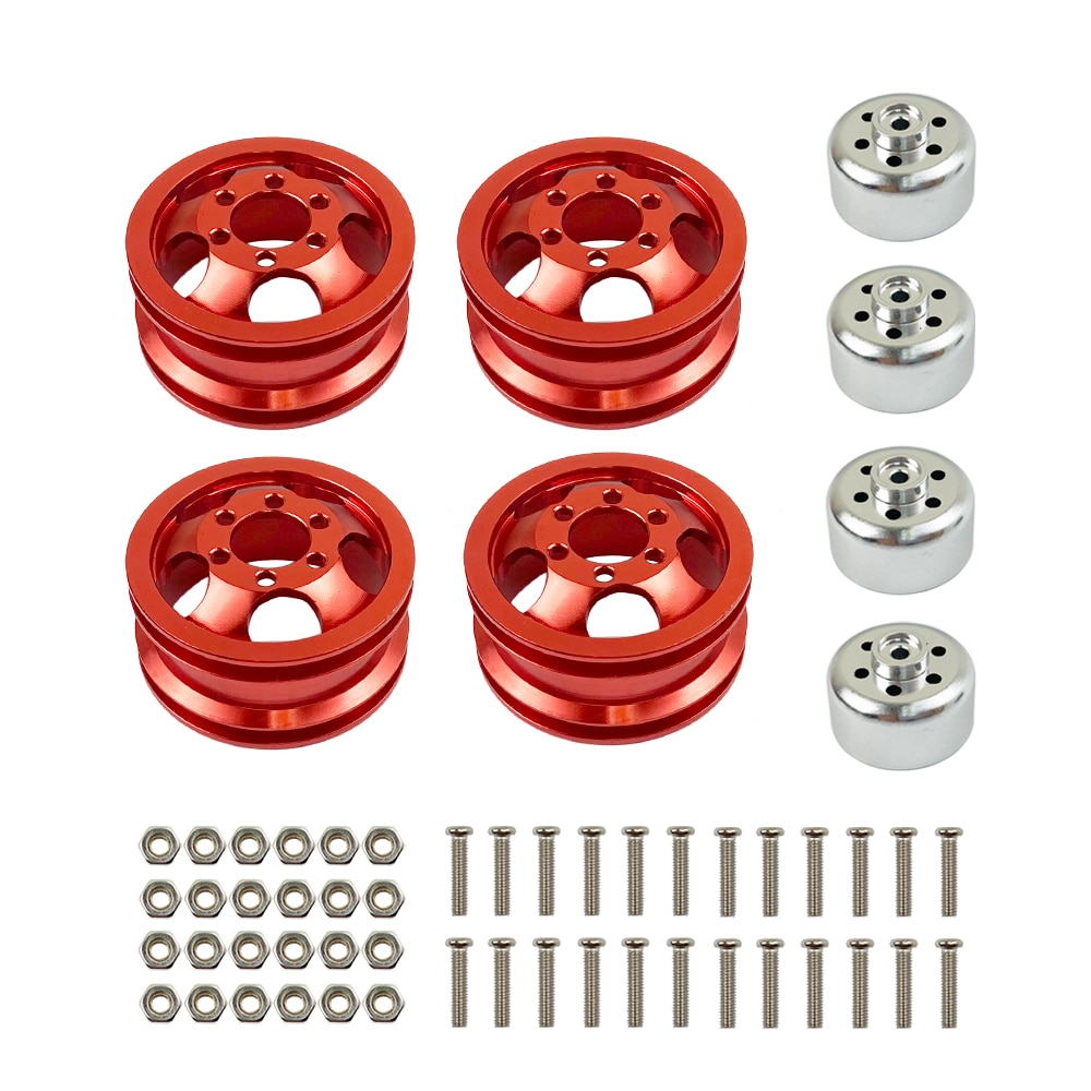 Upgrade Metal Wheel Rim Kit Wheel Hub for WPL B1 B-1 B14 B-14 B16 B-16 B24 B-24 C14 C-14 B36 with Screws RC Car Models Parts enlarge