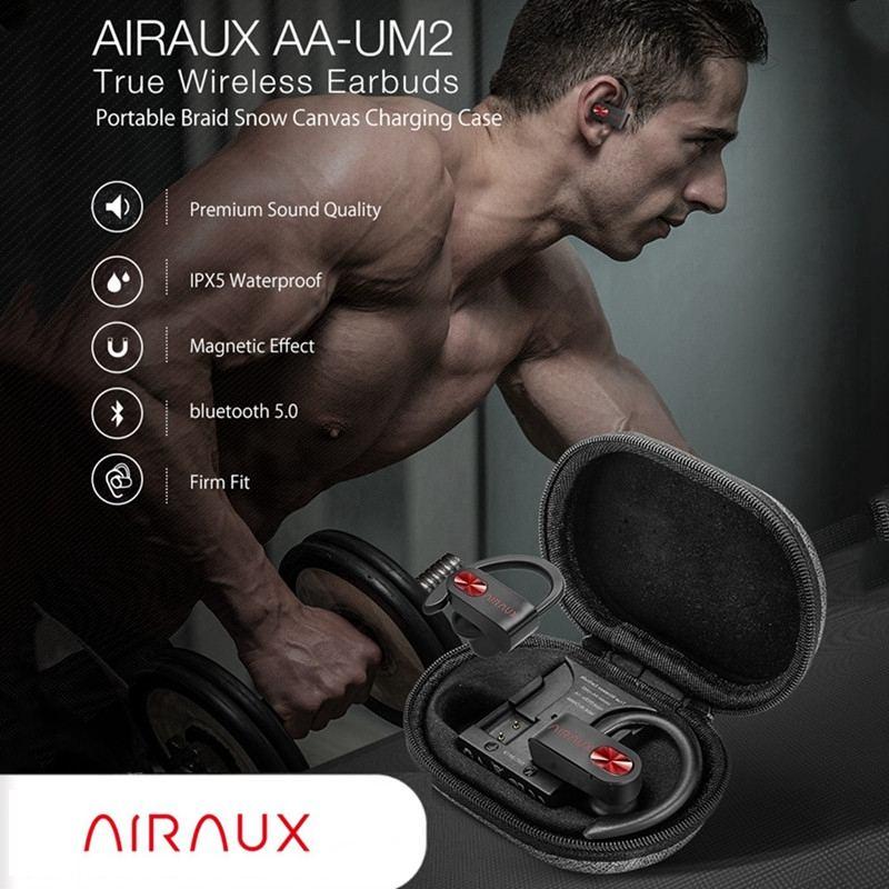 Blitzwolf AIRAUX AA-UM2 inalámbrico bluetooth 5,0 auriculares deportivos IPX5 impermeable Earhook auriculares HIFI auriculares con micrófono en Stock