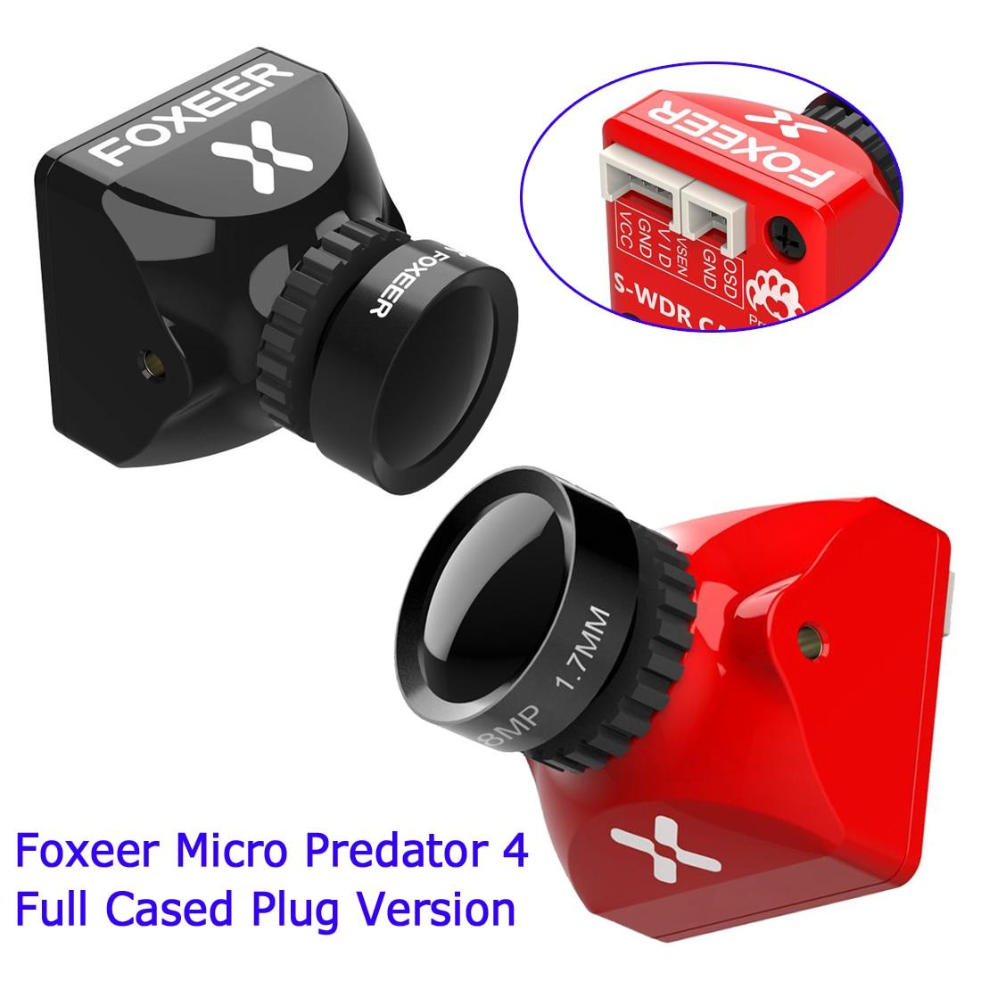 Foxeer Micro Predator 4, cámara completa con cubierta M8 4ms, Super WDR de latencia 1000TVL CMOS 1,7mm, lente con OSD para RC FPV, Dron mondadientes