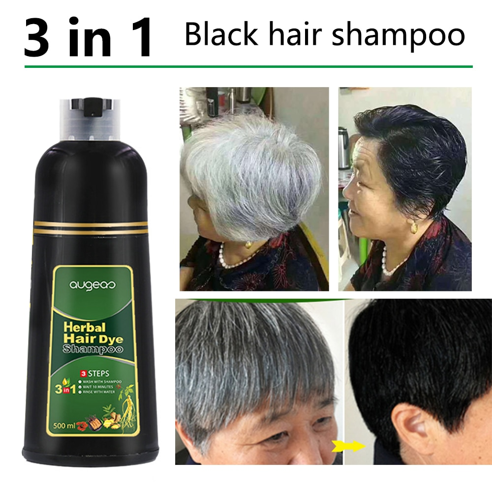 500ml Organic Natural Fast Hair Dye Only 5 Minutes Noni Plant Essence Black Hair Color Dye Shampoo for Cover Gray White Hair недорого