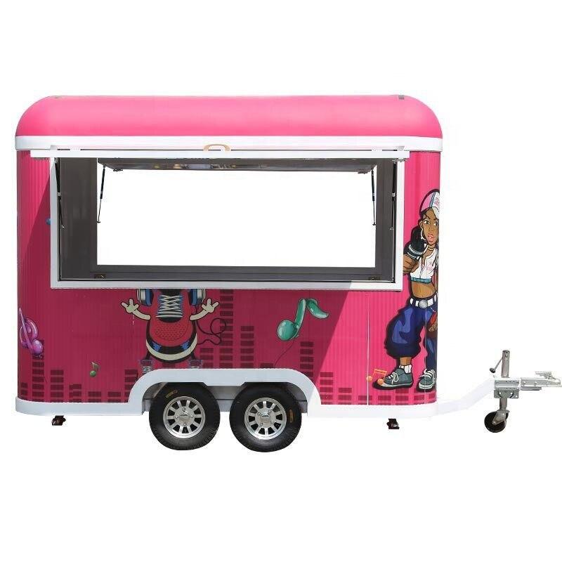 Gran oferta remolque concesión alimentos carrito de café comida camión en venta