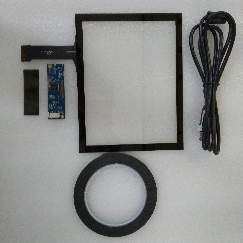 "Para 800x600x1024x768 pantalla LCD 43 pantalla 8 ""universal capacitiva Touch Panel controlador USB"