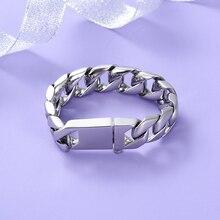 Bracelet de crémation dacier inoxydable avec le Bracelet de souvenir réglable de bijoux de cendres durne brillante