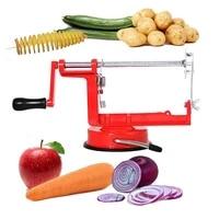 manual rotary potato tower stainless steel potato chip machine cyclone potato slicer cucumber carrot cutting machine