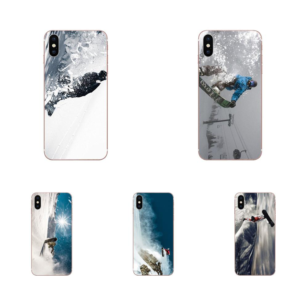 Painted Awesome Love Snow Or Die Ski Snowboard For Samsung Galaxy A71 A51 A01 Galaxy S20 Plus S20 Ul